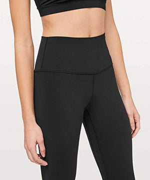 Lululemon Align Stretchy Full Length Yoga Pants - Women's Workout Leggings, High-Waisted Design, Breathable, Sculpted Fit, 28 Inch Inseam, Black, 8