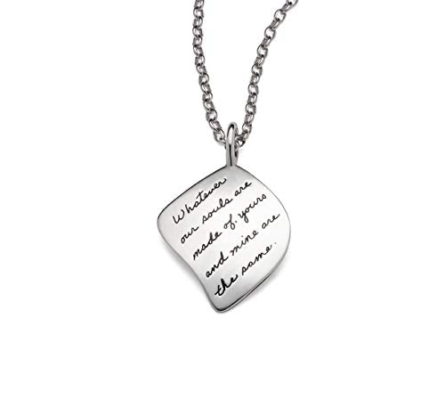 BB Becker Yours and Mine Sterling Silver Necklace - Girlfriend/Wife, Gift for Her, Our Souls Are The Same, Jewelry for Her, Birthday, Relationship, Romantic, Anniversary Gifts