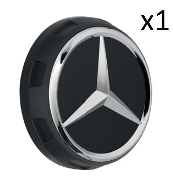 Mercedes Benz Genuine Wheel Center Cap (Qty: 1) (AMG Raised Cap Matte Black)