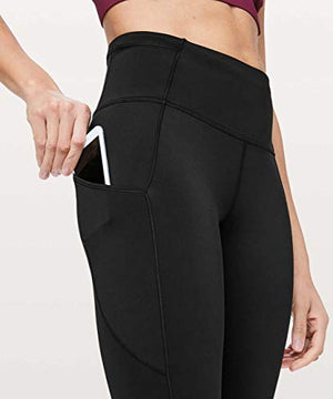 "LULULEMON Fast and Free 7/8 Tight 25"" (Black (Non-Reflective), 6)"