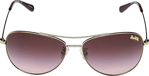 COACH 0HC7079 58mm Light Gold/Burgundy Gradient One Size