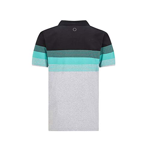 Mercedes Benz AMG Petronas F1 Men's Striped Polo (L)