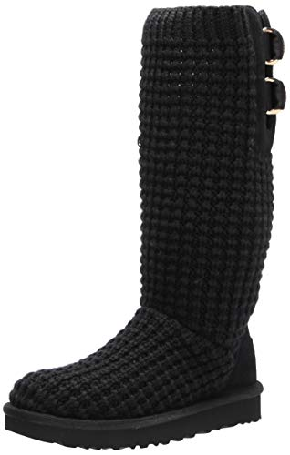 UGG womens Classic Solene Tall Fashion Boot, Black, 9 US