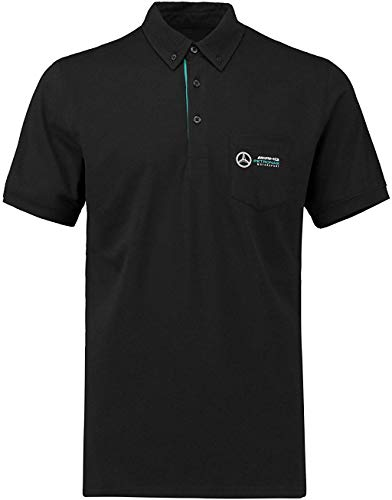 Mercedes Benz AMG Petronas Formula 1 Men's Black Classic Polo F1 (Large)