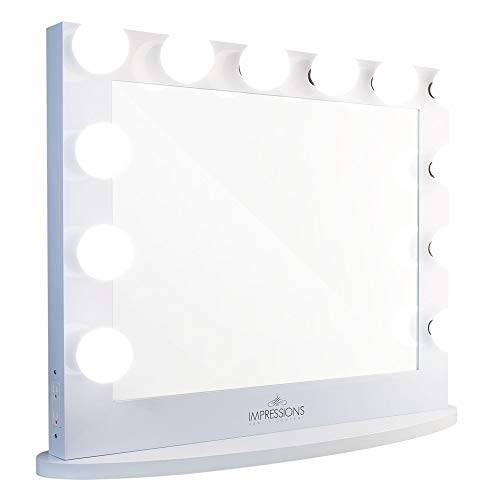 Impressions Vanity Hollywood Makeup Mirror - Iconic Plus - 12 Bulbs LED - White