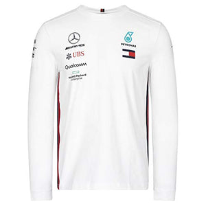 Mercedes-AMG Petronas Motorsport 2019 F1 Team Long Sleeve Driver T-Shirt White (XXL)