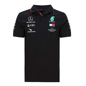 Mercedes Benz AMG Petronas F1 2020 Men's Team Polo Black/White (L, Black)
