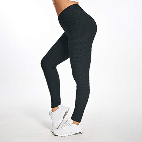 Vamuko TikTok Leggings Women High Waist Yoga Pants Booty Bubble Butt Lifting Workout Running Tights Exercise Fitness Legging