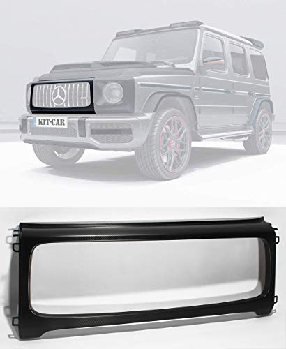 kit-car G Wagon Front Grille Frame - Matte Black Carbon Fiber Front Grill Trim - for W464 W463A G63 AMG G Class Mercedes Benz 2018 2019 2020 +