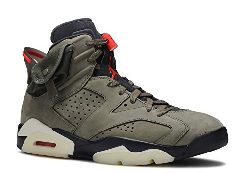 Jordan Air 6 Retro (Medium Olive/Black-Sail/Univer 9.5)