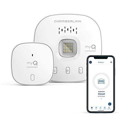 myQ Smart Garage Door Opener Chamberlain myQ-G0401 - Wireless Smart Garage Hub and Controller, Wi-Fi and Bluetooth, Smartphone Control, White