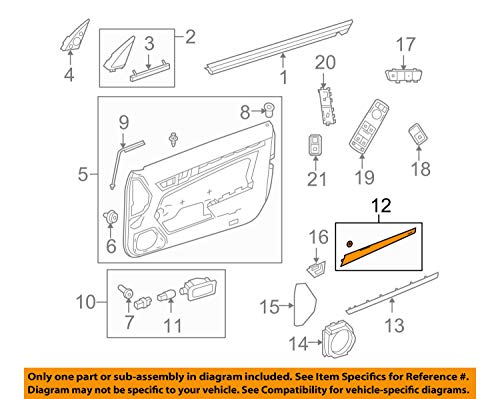 MERCEDES-BENZ 20772021222A02 GENUINE OEM UPPER TRIM