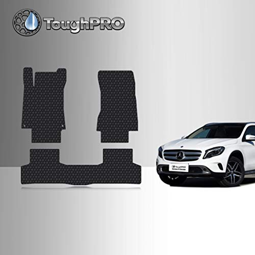 TOUGHPRO Floor Mat Accessories Set (Front Row + 2nd Row) Compatible with Mercedes-Benz GLA - All Weather - Heavy Duty - (Made in USA) - Black Rubber - 2021