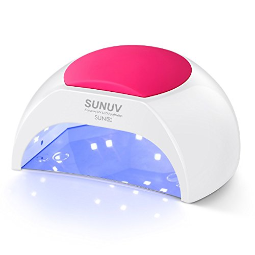 Gel UV Nail Lamp, SUNUV 48W UV LED Nail Dryer Light for Gel Nails Polish Manicure Professional Salon Curing Lamp with 4 Timer Setting Sensor SUN2C