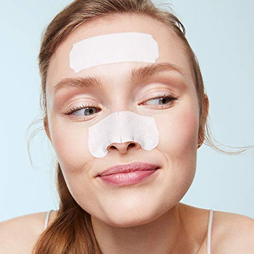 Bioré Nose+Face, Deep Cleansing Pore Strips, 24 Ct Value Size, 12 Nose + 12 Face Strips for Chin or Forehead, Instant Blackhead Removal & Pore Unclogging, Oil-free, Non-Comedogenic, Packaging May Vary