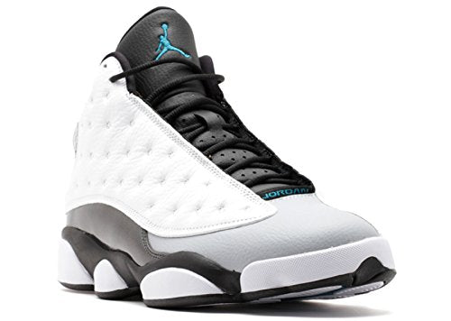 Jordan Mens 13 Retro White/Black/Wolf Grey/Tropical Teal 414571-115 10.5