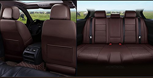 AutoDecorun 21pcs/Set Genuine Leather & Leatherette Full 3 Rows Seats Cover for Mercedes-Benz R350 R320 R400 R300 R500 Seat Covers Accessories Cars 6 & 7 Seats Protectors 2006-2017 (Coffee)