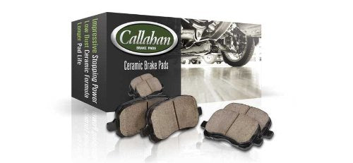Callahan CDS02196 REAR 300mm D/S 5 Lug [2] Rotors + Ceramic Brake Pads + Clips + Sensors [fit Mercedes Benz C250 C300]