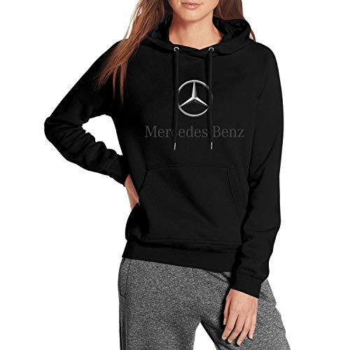 CUSOUL Young Women Hooded Sweatshirt Mercedes-Benz-Logo- Fleece Long Sleeve Pullover, Medium