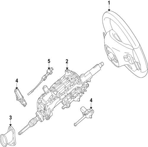 Mercedes Benz Genuine Steering Column 166-460-62-00