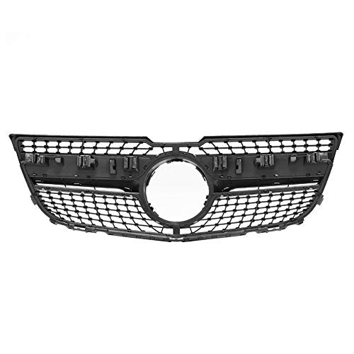 WPFC Car Front Bumper Grill Grille, for Mercedes for Benz GLK X204 GLK250 GLK300 GLK350 2013-2015, GLK X204 Diamond Grille,Black