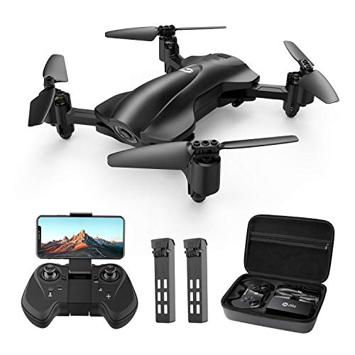 Holy Stone HS165 GPS FPV Drones with Camera for Adults 1080P HD, Foldable Drone for Beginners with Auto Return Home, Follow Me, Circle Fly, Tap Fly, Includes 2 Batteries and Carrying Case