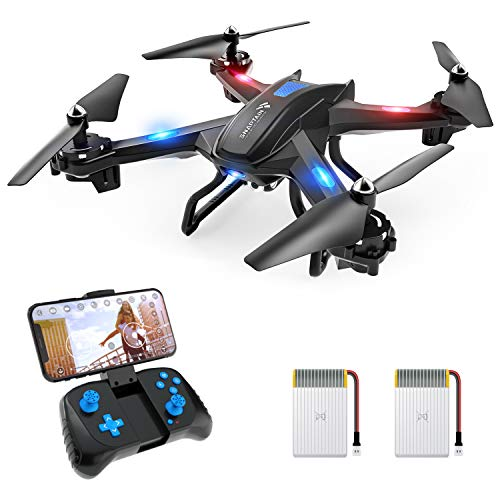 SNAPTAIN S5C WiFi FPV Drone with 720P HD Camera,Voice Control, Wide-Angle Live Video RC Quadcopter with Altitude Hold, Gravity Sensor Function, RTF One Key Take Off/Landing, Compatible w/VR Headset
