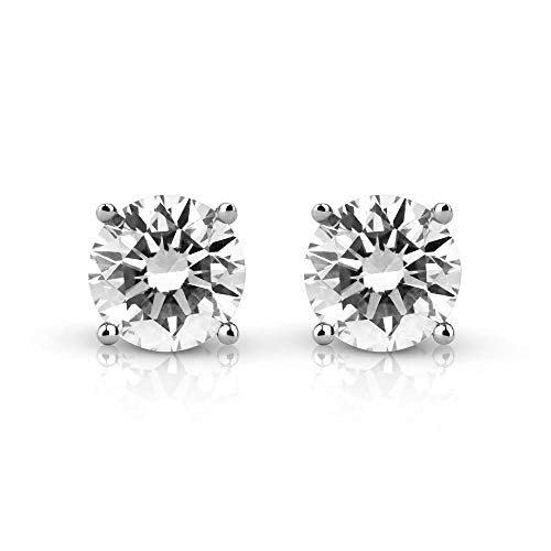 Spark Diamonds Round Diamond Stud Earrings for Women, 0.5 ct White Diamond, Brilliant Cut, 14K White Gold, Lab-Grown Diamond Jewelry (I-J Color, VS1-VS2 Clarity)