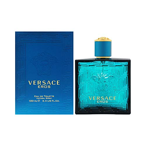 Versace Eros Eau de Toilette Spray for Men, 3.4 Fl Oz, 3.4 Fl Oz(Pack of 1)
