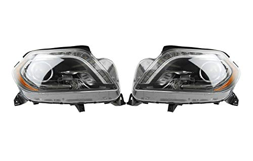 Left & Right Genuine Bi-Xenon Headlights Headlamps Pair Set For Mercedes X166