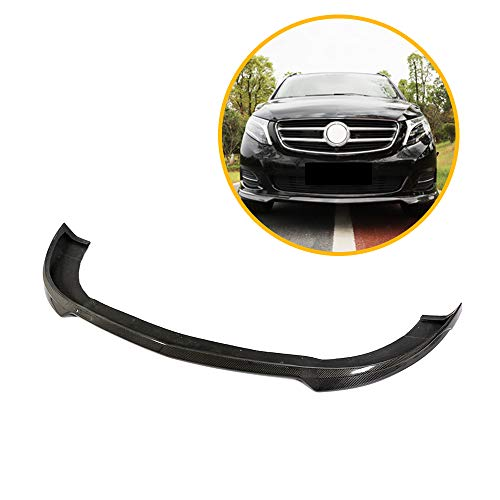 LIBAITIAN Front Lower Spoiler Air Dam Head Front Bumper Lip Spoiler Splitters Fit for Mercedes-Benz V-Class W447 V200 V220 V250 2014-2018 MPV Carbon Fiber Accessories,Carbon Fiber