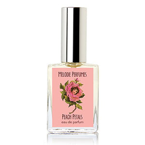 Melodie Perfumes Peach Petals perfume for women. Delicious floral ripe peach fruit women's fragrance. 15 ml