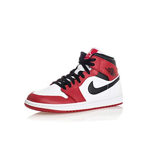 Jordan Men's Shoes Nike Air 1 Mid Chicago 554724-173 (Numeric_9_Point_5) White/Gym Red/Black