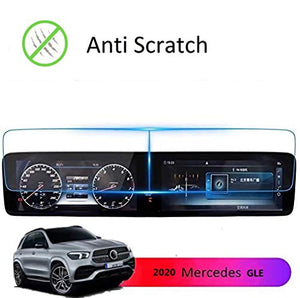 Screen Protector Compatible with 2020 2021 Mercedes Benz GLE GLS 12.3 inch Touch Screen,ZFM Anti Glare Scratch,Shock-resistant, Navigation Protection Accessories Premium Tempered Glass (V167)