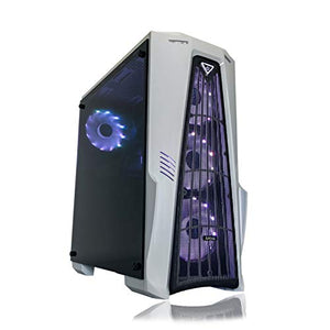 Gaming PC Desktop Computer White by Alarco Intel i5 3.10GHz,8GB Ram,1TB Hard Drive,Windows 10 pro,WiFi Ready,Video Card Nvidia GTX 650 1GB, 4 RGB Fans