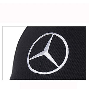 Car Logo Embroidered Black Hat Adjustable Baseball Caps for Men and Women Auto Sport Travel Cap Racing Motor Hat for B-e-n-z (B e n z)