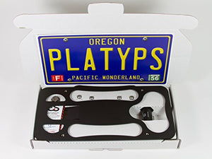 CravenSpeed Platypus License Plate Mount for Mercedes Benz GLC | 2016-2020 | No Drilling | Installs in Seconds | Made of Stainless Steel & Aluminum | Made in USA
