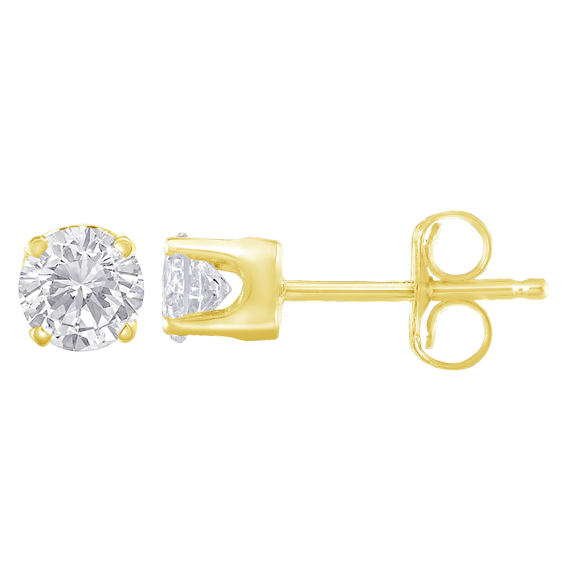 10k Yellow Gold 1/3ct. TDW Solitaire Diamond Stud