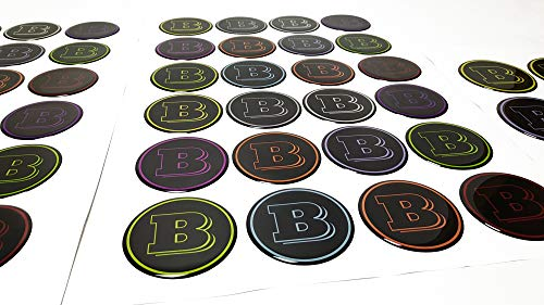 kit-car Brabus Style Crazy Colors Wheel Center Cap Stickers - Set 4 pcs - for Mercedes Benz Vehicles Available - 3 Diameters Available - 60mm - 64mm - 73mm
