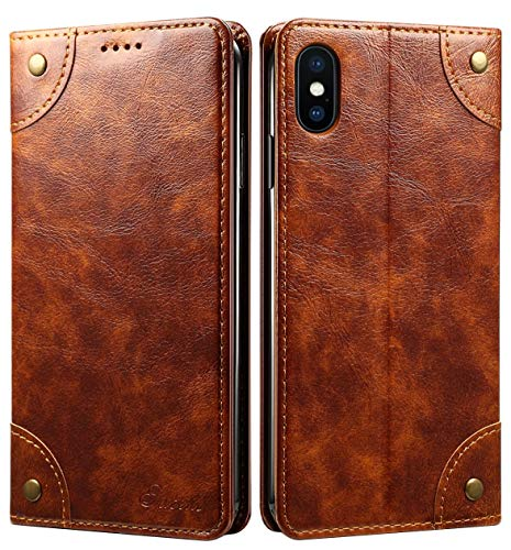 SINIANL iPhone 6S Plus Case, iPhone 6 Plus Case, Leather Wallet Folio Case Book Design Magnetic Closure with Stand and ID Holder Credit Card Slots for iPhone 6S Plus / 6 Plus