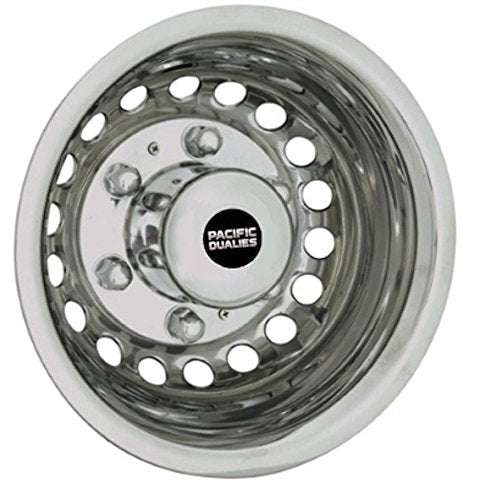 Pacific Dualies 44-1608A Polished Stainless Steel Wheel Simulator Kit for 2012-2019 Dodge, Mercedes and Freightliner Sprinter Van