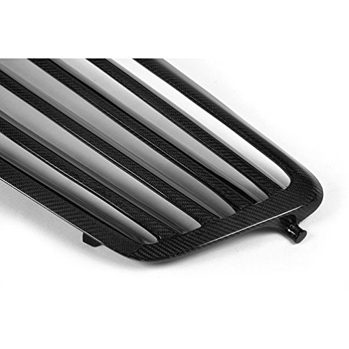 JC SPORTLINE Carbon Fiber Grill Cover Outline Trim fits for Mercedes Benz E Class W212 Sedan 2010-2013 Frame Grille Cover Factory Outlet