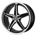 "Motegi Racing  MR107 Wheel with Gloss Black Machined (17x7.5""/5x112mm)"
