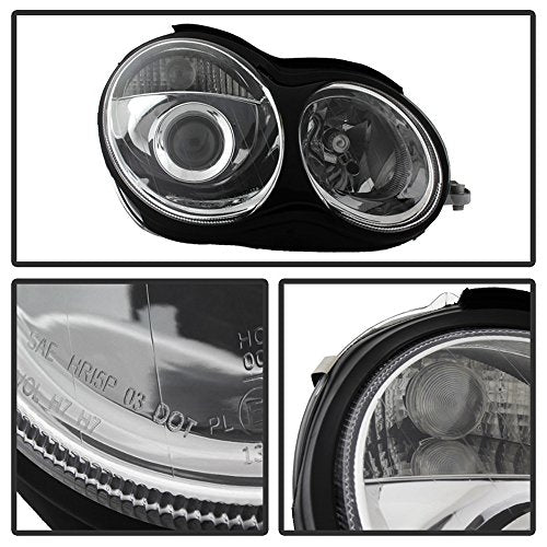 ACANII - For [Halogen Model Only] 2001-2007 Mercedes Benz W203 C230 C240 C320 Projector Headlights Headlamps Left+Right