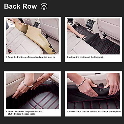 LUVCARPB Car Interior Floor Mats, Fit for Mercedes Benz CLK W208 W209 CLS W218 W219 AMG 220 250 260 300 320 400, Car Carpet Waterproof Accessories