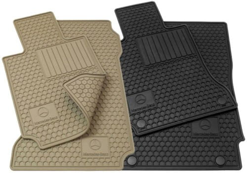 Mercedes Benz GLK Genuine OEM Factory All Season Floor Mats - BEIGE- 2010-2013