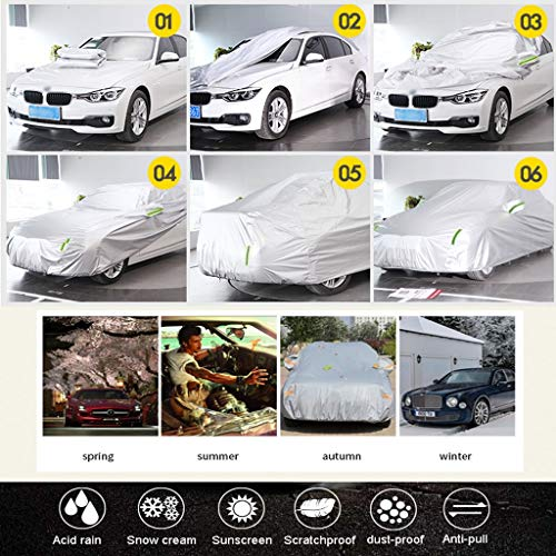 HXGL-Car Covers Compatible with Mercedes-Benz AMG GT Insulated Car Cover All-Weather Waterproof and Dust-Proof Car Clothing Safety Shield (Size : AMG GT)