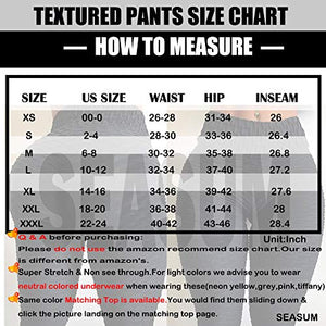SEASUM Women's High Waist Yoga Pants Tummy Control Slimming Booty Leggings Workout Running Butt Lift Tights XS