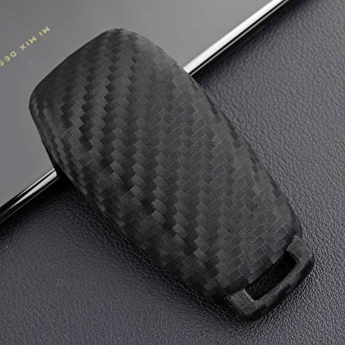 VSLIH Carbon Fiber Texture Remote Key Fob Case Cover Holder for Mercedes Benz E-Class E300 E350 E400 2016-2019