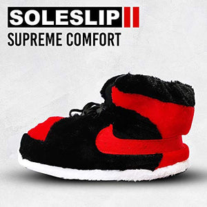 SoleSlip Jordan Alike Sneaker Slippers | Men and Women | Comfy and Cozy | Perfect for Lounging | One Size Fits All |